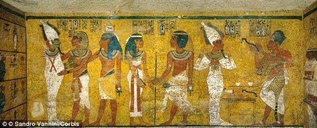 Pintura mural de una tumba