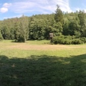 Panoramatický pohled na uklizené tábořiště