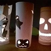 Vyrábění na schůzkách družin Pand - Halloween 2017