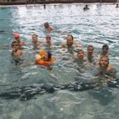 V bazénu - Medvíďata, Rosomáci a Golem (Beruška fotila :))