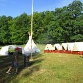 Ráno na táboře