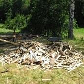 Mráček, Janek a dřevo na druhou půlku tábora
