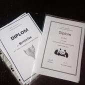 Diplomy za bodování