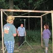 Stavba tábora - sprcha
