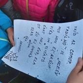 Čteme dopis od našeho pavouka Arnošta