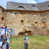 Na nádvoří zámku v Rožmitále