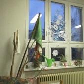 Sněhový stromek na okně